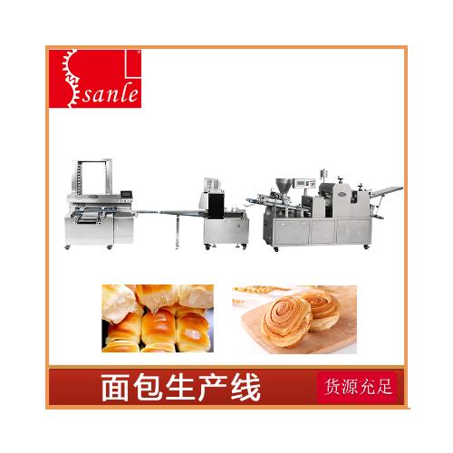 SLBM-5II型三道擀面酥饼、面包多功能成型机组