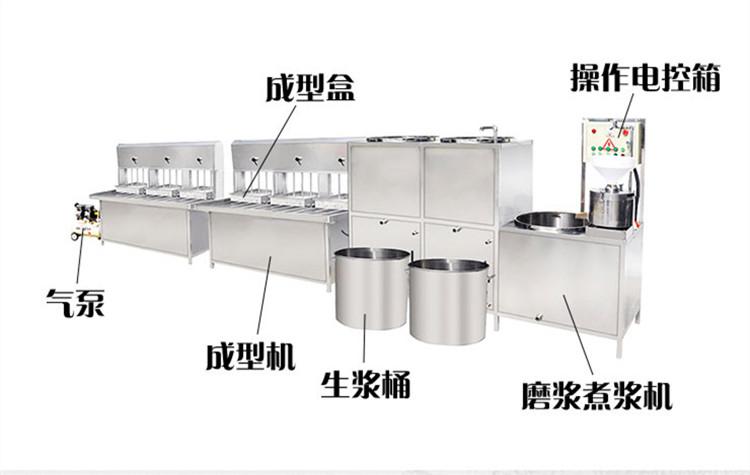 鄂尔多斯豆腐机豆腐皮机 豆腐豆浆一体机 鑫丰豆制品机械生产线