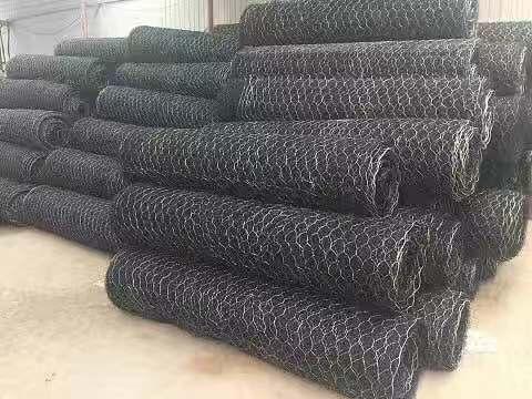 河道用编织网辽宁河道用编织网机器编织炀和六角形编织石笼网