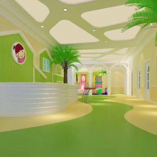 PVC幼儿园卷材地板