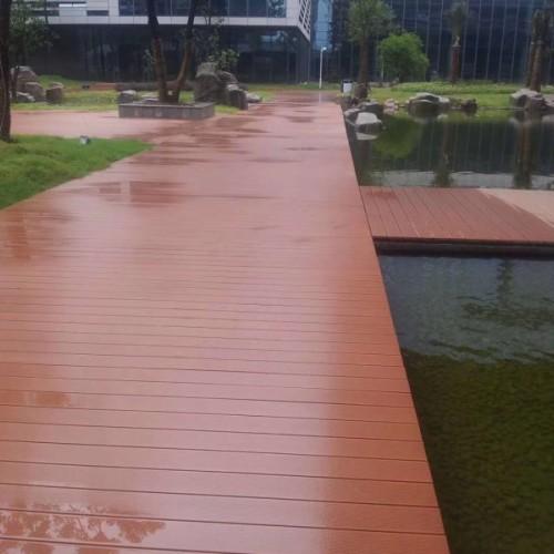 木塑地板栏杆廊架凉亭木塑墙板出口品质18679782388