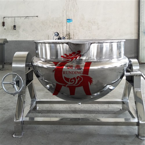 果酱熬制锅 煮鸡煮肉燃气夹层锅 熟食夹层锅 鸭蛋卤制夹层锅