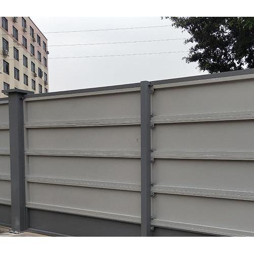 广州三田钢结构市政围挡板的安装