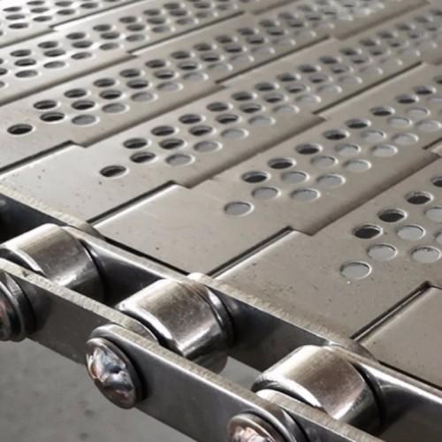 网带商家定制 304不锈钢链板 板式网链 输送清洗机冲孔链板