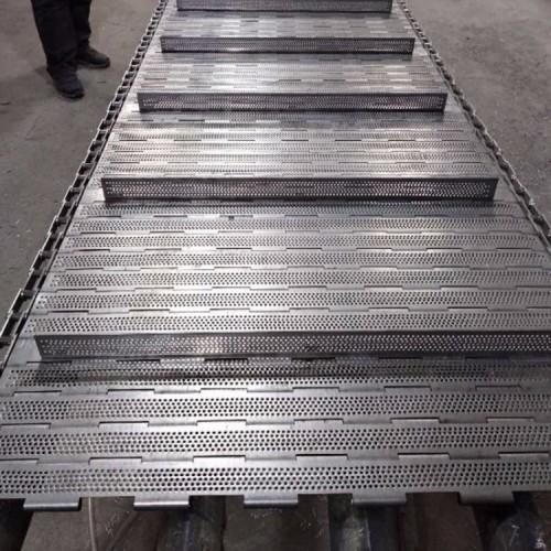 304不锈钢屠宰生产线输送链板非标定制乳制品加工传送冲孔链板