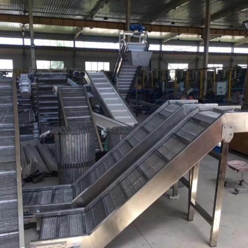 食品不锈钢链板输送机 自动化输送机 工业流水线型链板式输送机