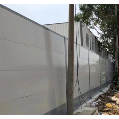 A1~1款钢板围墙施工现场