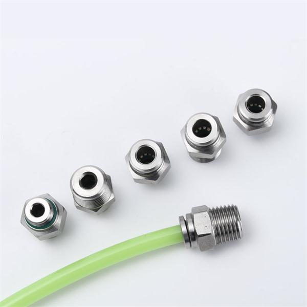 304不锈钢快插接头PC8-02气动气管螺纹高压气嘴直通对接