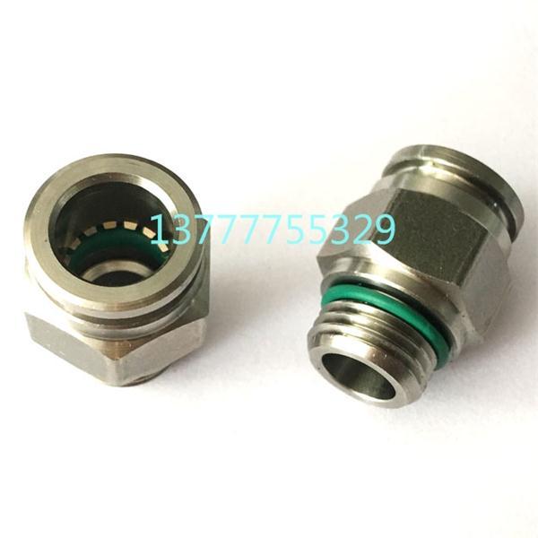 不锈钢G螺纹PC直通8-G02软管气管 快速快插 气动接头