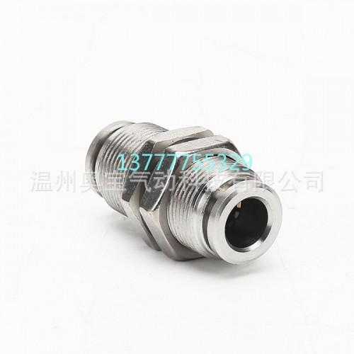 不锈钢PM隔板快插接头PM46810/12/16气管快速接头