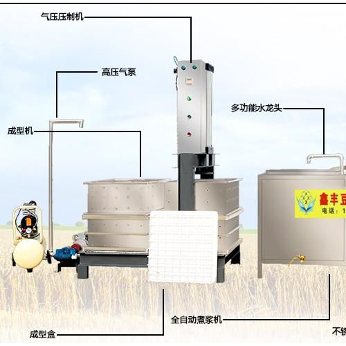 淄博豆腐干机报价 鑫丰定制数控豆腐干机 家用豆腐干机生产线