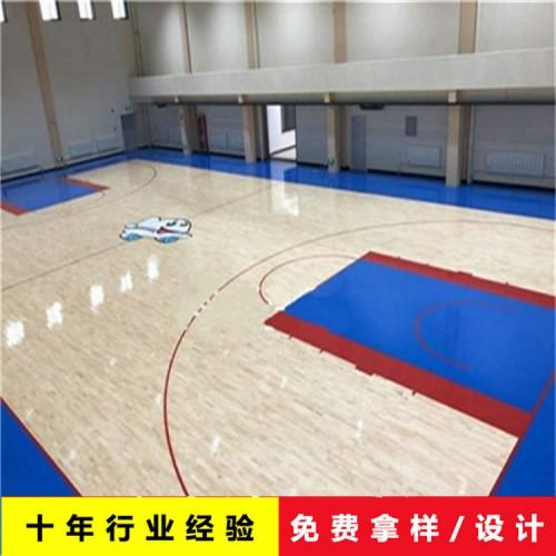 企口硬木运动木地板  篮球馆运动木地板 枫桦木运动地板