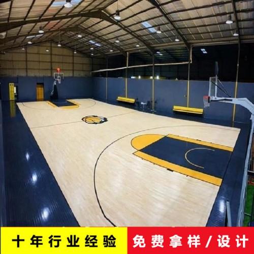 篮球体育木地板 体育场馆木地板 柞木运动木地板