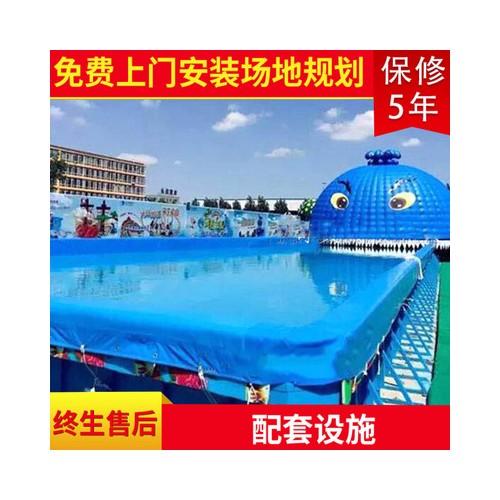 大型移动狂鲨造浪池水上乐园 大型充气游乐狂鲨造浪池