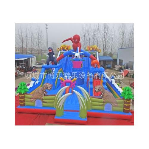 户外大型PVC充气大象水上滑梯儿童水上乐园可移动滑梯可定制