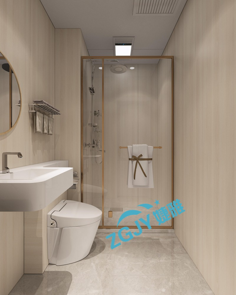 山东婕雅专业生产酒店宾馆整体卫生间整体卫浴