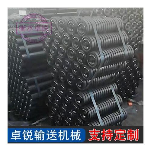 矿用皮带输送机缓冲托辊 组支架平行螺旋梳形托辊 缓冲托辊现货