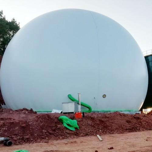 养殖场沼气工程海越环保双膜气柜客服耐心服务好