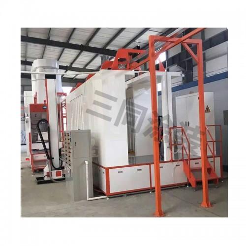 大小旋风二次回收静电喷粉房设备快速换色PP不粘粉粉末回收系统