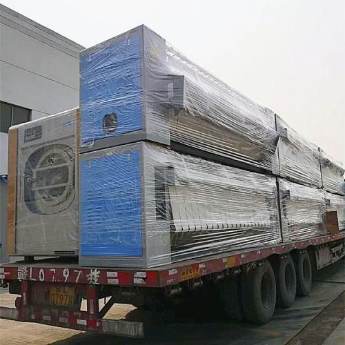 宾馆布草洗涤厂后整理设备 床单被套折叠机烫平机