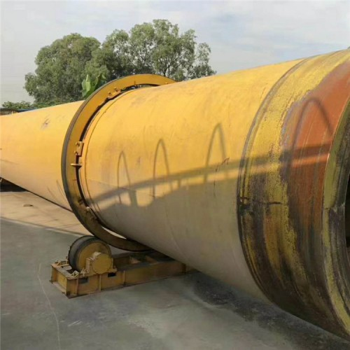 二手1.8X18米重型滚筒烘干机 附件齐全 壁厚16个