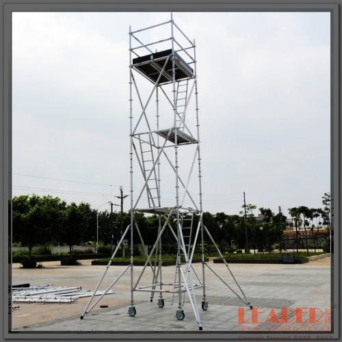 双宽7.5m单管铝合金脚手架 型铝架子 插梢连接 可靠实用