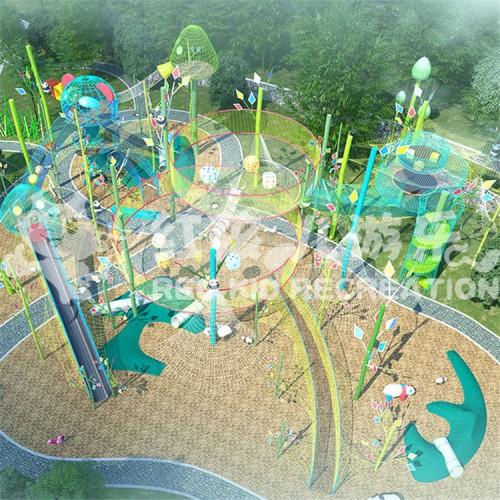 2020新型儿童游乐攀爬绳网设备 户外大型攀爬网厂家定制