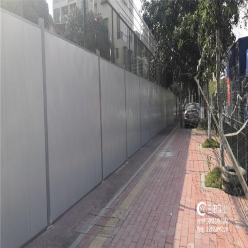 三田钢结构A5款钢板围挡惊现道路工程