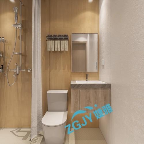 山东婕雅专业生产酒店宾馆卫生间整体卫浴装配卫生间卫浴设施