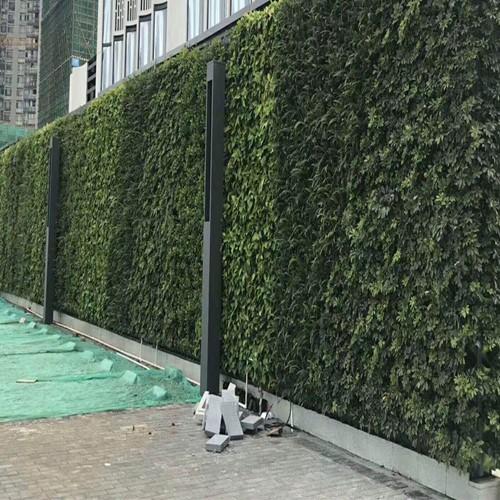 三田钢结构绿植围挡再现风华