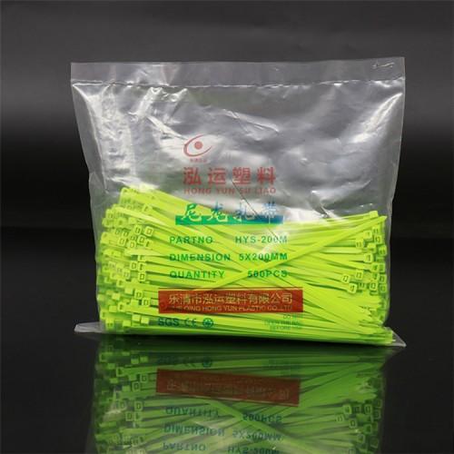 厂家批发绿色尼龙扎带 汽车防滑扎带 定制尼龙扎带