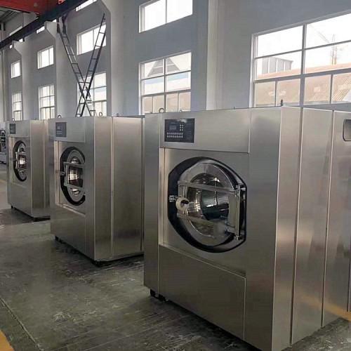 大容量宾馆洗涤设备 变频调速酒店洗衣机一键操作