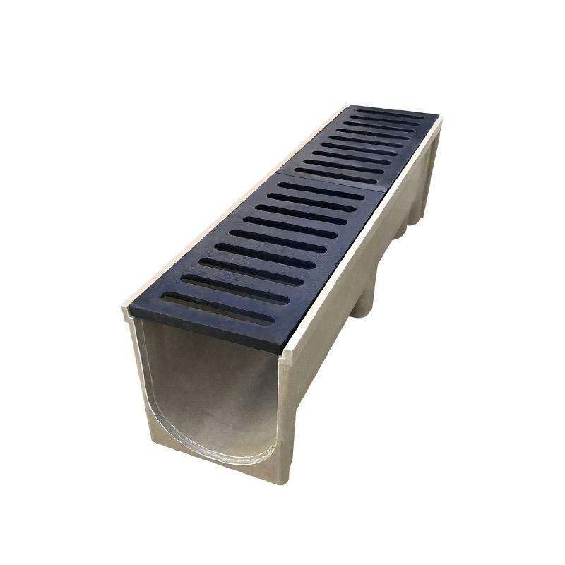 铸铁盖板配树脂排水沟可过车5吨20吨承重江苏蓝鼎