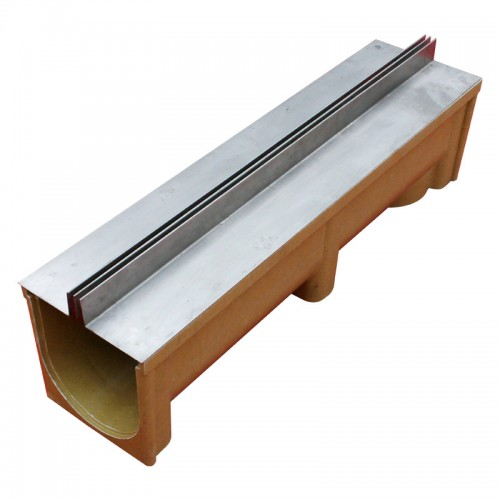 缝隙式排水沟成品线性排水沟U型槽不锈钢盖板定做加工江苏蓝鼎