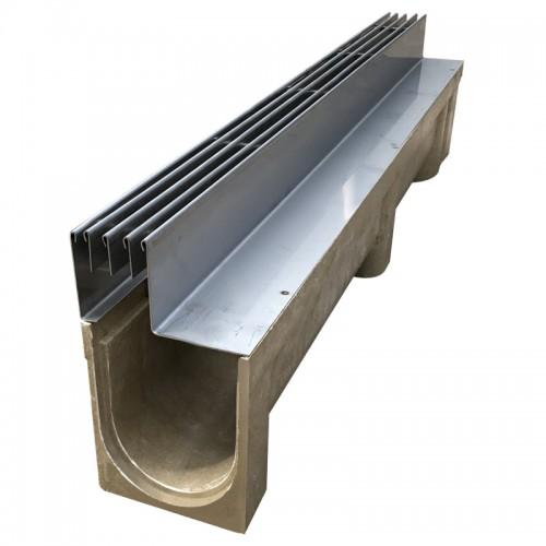 塑料排水沟HDPE塑料排水沟厂家生产pe塑料线性U型排水沟