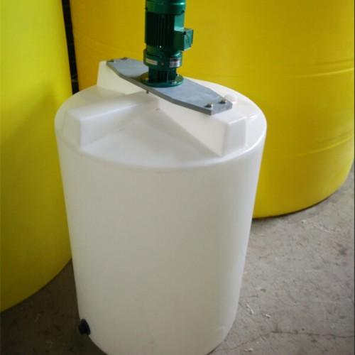 1吨化工搅拌罐 1立方PE塑料搅拌桶 防腐反应釜搅拌机