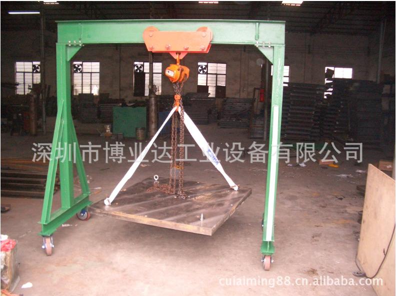 供应东莞龙门吊架,可选配电动葫芦与手动葫芦,深圳小型龙门吊架