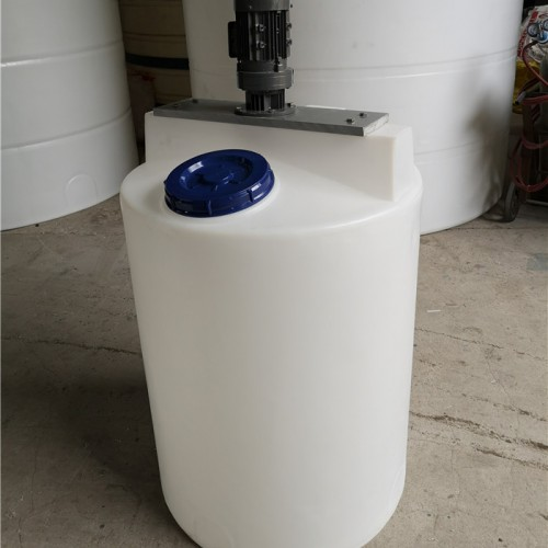 化工防腐搅拌设备 耐酸碱配解桶 PE塑料搅拌罐厂家直销