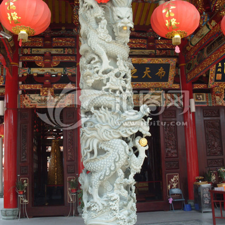 石雕盘龙柱厂家  石雕华表  十二生肖柱  广场文化柱