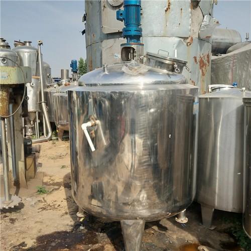 出售二手不锈钢电加热反应釜 二手反应釜搅拌装置