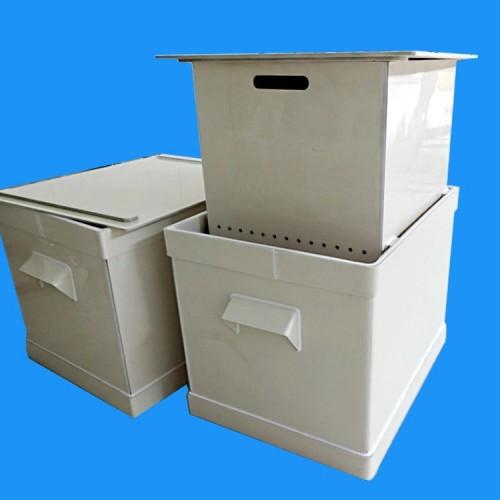 实验室耐酸碱浸泡缸 可定做内双缸塑料防腐容器