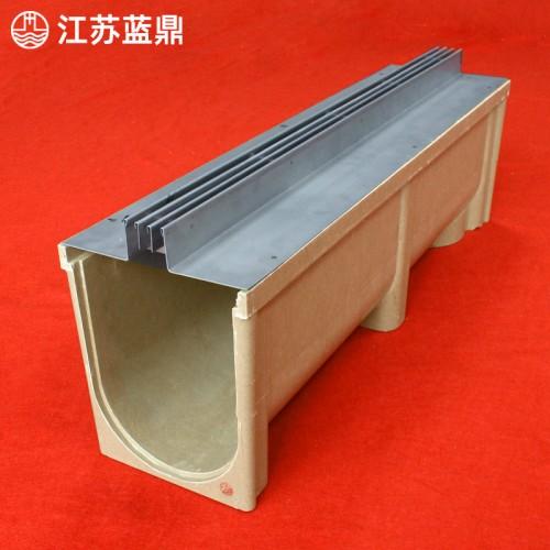 成品线性树脂混凝土排水沟u型槽不锈钢盖板高强度下水道