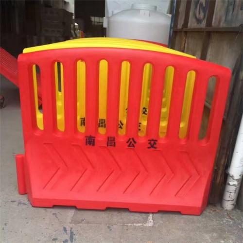 南昌公交隔离栏 江西安保围栏 塑料防护栏警示围档