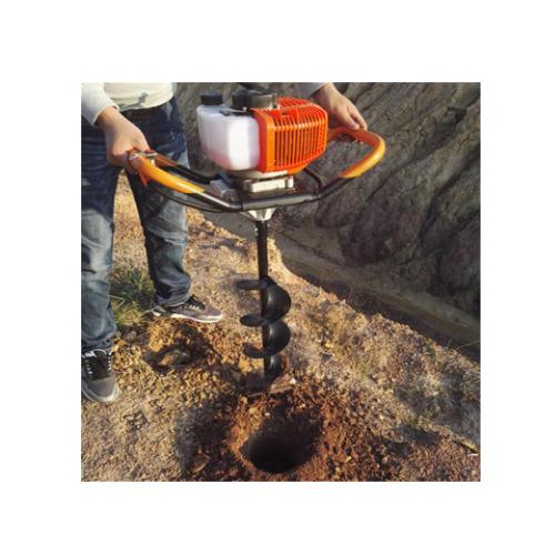 河北2冲程大棚埋桩机建筑施工钻眼机大面积果树种植螺旋式挖坑机