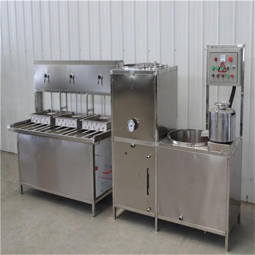 全自动豆腐机价格 豆腐机操作过程 三盒豆腐成型机