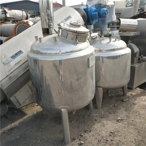 低价处理316不锈钢反应釜搅拌罐 反应釜图片