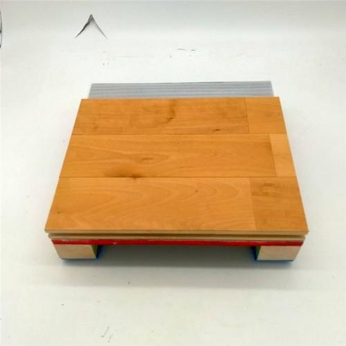 篮球馆羽毛球馆防滑耐磨运动实木地板宇跃厂家直营
