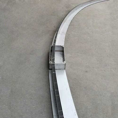 U型成品树脂混凝土排水沟弧形不锈钢缝隙式排水槽