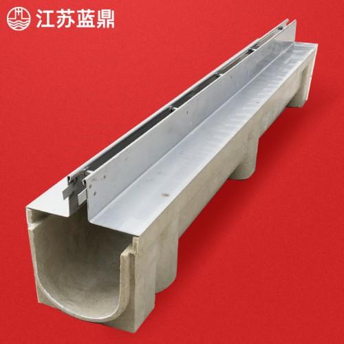 定制成品树脂排水沟缝隙式线性排水沟不锈钢HDPE塑料U型槽盖