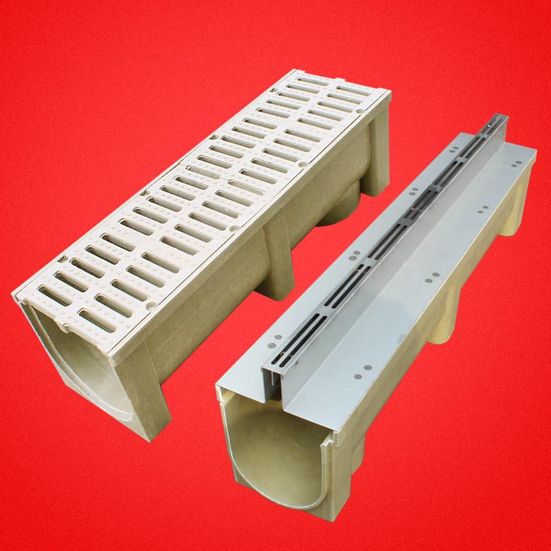 成品树脂排水沟U型槽厂家直销大量现货U100-80型号塑料